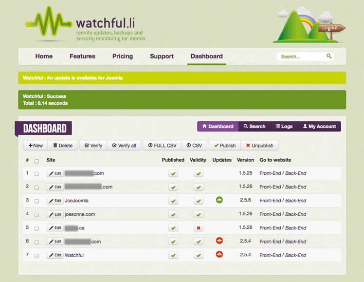 Watchful Dashboard